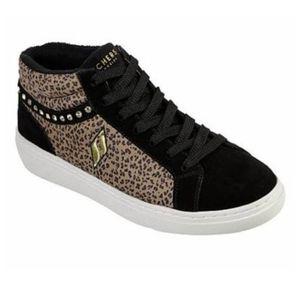 Skechers Goldie Wild Waze Sneaker Black Leopard